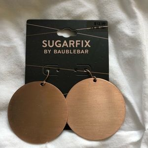 BaubleBar Jewelry - BaubleBar Rose Gold Disc Earrings